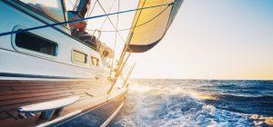 zeilschip in sctie op zee
